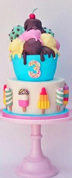 Retro Ice Lollies and Ice Cream Cake