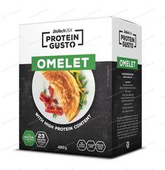 Protein Gusto Omeleta od Biotech USA - 480 g / Slaninová Omelet, High Protein, Bacon, Gluten, Omelette, Omelettes