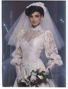 trendy vintage wedding gowns You will find different rumors about the history of the marriage dress; 1980s Wedding Dress, Vintage Wedding Suits, Chic Vintage Brides, Vintage Wedding Photos, Vintage Bridal, Wedding Dress Styles, Bridal Dresses, Vintage Weddings, Event Dresses