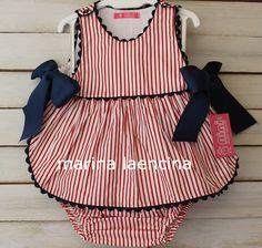 Ropita para tus niños Baby Girl Dresses Diy, Little Girl Dresses, Baby Dress, Girls Dresses, Kids Dress Wear, Kids Wear, Baby Couture, Kurti Designs Party Wear, Baby Sewing