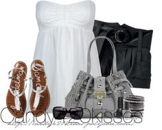 """""""Black, White and Grey Contest"""" by candy420kisses on Polyvore"""