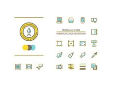 aka some touches on my own personal brand- along with a collection of icons that represent things do... These icons will be used in the book which I am putting together to document my own work and ...
