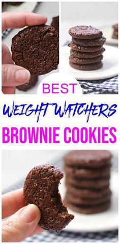 Weight Watchers Brownies, Weight Watcher Cookies, Weight Watchers Desserts, Cake Mix Cookies, Fun Cookies, How To Make Cookies, Chocolate Brownie Cookie Recipe, Chocolate Fudge Brownies, Low Fat Desserts