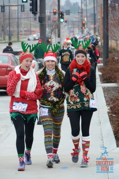 "The Ugly Sweater Run Omaha, NE Needing ideas for a FUN Ugly Christmas Sweater Party check out ""The How to Party In An Ugly Christmas Sweater"" Tacky Christmas Party, Tacky Christmas Sweater, Christmas Love, Christmas Ideas, Christmas Clothes, Christmas Outfits, Xmas Party, Holiday Ideas, Christmas Crafts"