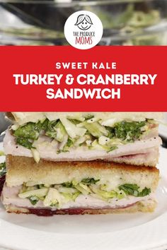 One of the best parts of Thanksgiving is all the leftovers! This year try a sweet kale, turkey and cranberry sandwich with your holiday leftovers. Follow this easy recipe from The Produce Moms for a yummy lunch! Easter Recipes, Thanksgiving Recipes, Holiday Recipes, Salad Kits, Cool Lunch Boxes, Fourth Of July Food, Eat Smart, Kale, Sandwiches