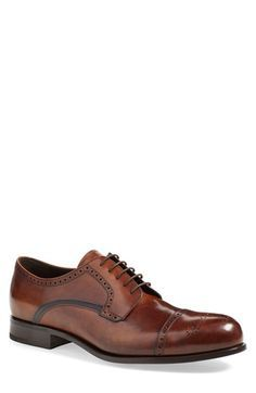 Prada 'Deco Medallion' Cap Toe Oxford (Men) available at #Nordstrom