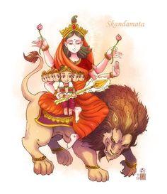 Durga Maa by In-Sine on DeviantArt Saraswati Goddess, Kali Goddess, Durga Maa, Shiva Shakti, Durga Painting, Lord Shiva Painting, Navratri Images, Durga Images, Happy Navratri