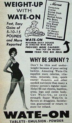 Vintage Weight Gain Ads II, 1908-1984 - Retronaut