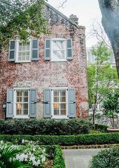 Lofts, Charleston Homes, Charleston Gardens, Dream House Exterior, Rustic Brick House Exterior, Cute House, Barbie Dream House, Old Houses, Brick Houses