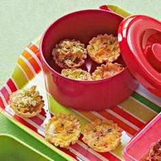 Mini ham and cheese quiche