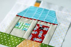 paper pieced house by Retro_Mama, via Flickr