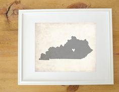 Kentucky Love- A perfect print to serve as a reminder of where you are from or maybe a special place to you. This print was created from my own