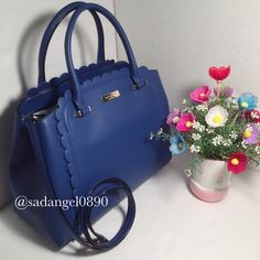 """NEW KATE SPADE LINZI MAPLE COURT SATCHEL ⚜ Color: hyacinth  ⚜ Material: pvc  ⚜Measurment: 12""""-10""""-6"""" ⚜ Real photo  taken from me ⚜ Brand new✨, never used. 100% authentic from Kate Spade NY ⚜ Tag, strap and care card are included ⚜ Pack with careand ship✈️right away ⚜ Freegiftincluded with purchase $100+ ➖➖➖➖➖➖➖➖➖➖➖➖➖ •TRADEP.P.HOLD •LOWBALLBUNDLE IF U HAVE NO INTENTION TO BUY • 10% OFF FOR BUNDLES • REASONABLE OFFERS WILL BE ACCEPTED. kate spade Bags Satchels"""