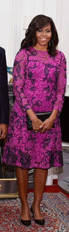 Michelle Obama in Oscar de la Renta