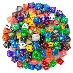 Wiz Dice Bag of Holding: 140 Polyhedral Dice in 20 Guaranteed Complete Sets, Dice - Amazon Canada