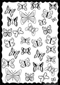 FREE printable butterfly #coloring page | #blackandwhite