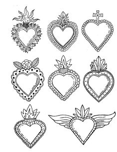 The Effective Pictures We Offer You About Tattoo Pattern circle A quality picture can tell you many things. You can find the most beautiful pictures that can be presented to you about Tattoo Pattern i Beaded Embroidery, Embroidery Patterns, Hand Embroidery, Art Vampire, Vampire Knight, Coeur Tattoo, Art Manga, Heart Illustration, Mexican Folk Art