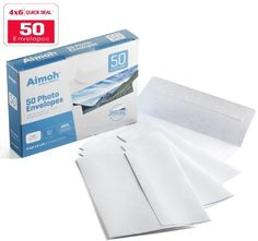 4x6 Photo Envelopes, SELF-SEAL - 4-1/2 x 6-1/4 Inches - A4, 24lb, White Wove, 50 Count - Ideal for Invitations, Greetings, RSVP, Photo, Wedding Announcements, Ultra Strong Self-sealing Closure (36050), 2016 Amazon Hot New Releases Mailroom Supplies  #Office-Products