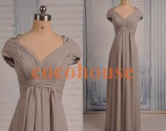 Light Gray Long Prom Dresses V Neckline Bridesmaid Dresses Homecoming Dresses Cheap Evening Dress Wedding Party Dresses Beaded Party Dress Cheap Homecoming Dresses, Cheap Evening Dresses, Formal Dresses, Grey Bridesmaid Dresses, Bridesmaids, Wedding Party Dresses, Trending Outfits, Neckline, Clothes