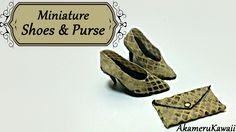 Hi guys! Some asked for more doll shoes, so this time we're making some closets shoes with a matching purse. ^^ I Chose a snake print fabric that did not fra...