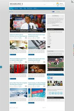 IT HeadLine 3 - A news-based Premium Joomla Theme designed especially for websites with lots of content. http://demo.icetheme.com/?template=it_headline3