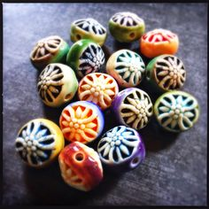 Double Sided Knot porcelain beads by Round Rabbit