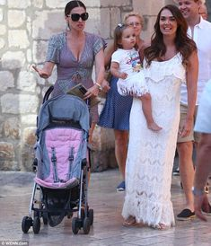 Three generations: It's also been a typically jet-set summer for the Tamara, who only days...