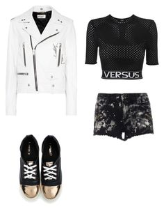 """""""#68"""" by cecilie-monica-nrskov-pedersen on Polyvore featuring Versus and Yves Saint Laurent"""