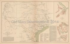 Texas New Mexico Louisiana Civil War Old Map 1895 Download Printable - Old Map Downloads