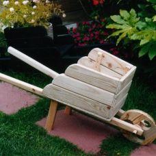 Garden Wheelbarrow - Famous Last Words Pallet Crafts, Diy Pallet Projects, Diy Home Crafts, Garden Crafts, Woodworking Projects, Wooden Wheelbarrow, Wheelbarrow Garden, Wooden Wagon, Wood Planters