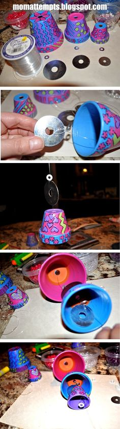 At the first sign of spring, I can't stop obses… - Spring Crafts For Kids Clay Pot Projects, Clay Pot Crafts, Craft Projects, Diy Crafts, Craft Ideas, Flower Pot Art, Flower Pot Crafts, Flower Pots, Great Mothers Day Gifts