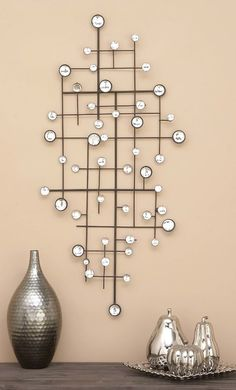 Decorate your kitchen or any room with this Geometrically Designed Metal Wall Decor With Glass Beads. It makes a great simple kitchen or living room decor idea on a budget. (Affiliate link, I will get a commission for your purchase) Antique Wall Decor, Metal Wall Decor, Diy Wall Decor, Diy Mirror Decor, Mirror Crafts, Rustic Decor, Mirror Decor Living Room, Living Room Pillows, Room Decor
