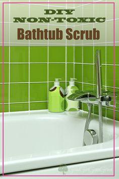 DIY Non-Toxic Bathtub Scrub Cleaner GoodGirlGoneGreen.com