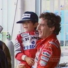 Ayrton with a little fan
