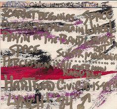 My original artwork, Grateful Dead @ Hartford CT, 10-15-1984 (set II). (the gold pen, did not really work out).