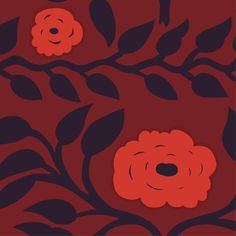 Naamio Sateen fabric in red, red, plum