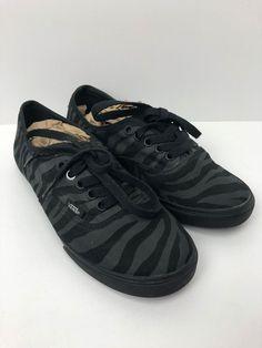 f9d7d264705803 VANS Low Pro Black Zebra Print Canvas Skate T375 Shoes Mens 5 Womens 6.5  EUC  fashion  clothing  shoes  accessories  unisexclothingshoesaccs ...