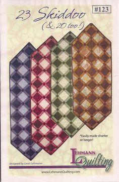 23 Skiddoo pattern by Genii Lehman by HorsefeathersFabric on Etsy
