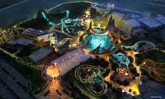 Disney News - Marvel Adventure Theme Park coming to Dubai Ms Marvel, Disney Marvel, Disney Concept Art, Disney Art, Jurassic Park, Dinosaure Herbivore, Disney World Information, Attraction, Les Reptiles
