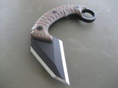 "Miller Bros. Blades Custom Karambit 5/16"" thick, 2-3/4"" cutting surface,6-1/2""OAL Custom Handmade Swords, Knives & Tomahawks/Axes http://www.millerbrosblades.com/"