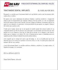 Negligencias Médicas: tratamientos dentales. Implantes  Completo en: http://www.grupomedicolegalbcn.com/es/seccion/articulos/