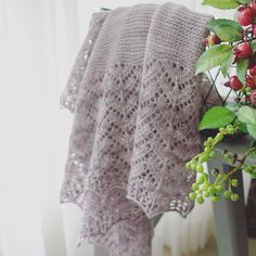 Shawl by Irene Lin (@irenelin1125) | malabrigo Lace in Pearl