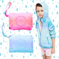 If you get caught in the rain- don't worry! This cute ombre jacket will keep you dry and cool ;) So easy to pack and carry around to all your adventures!