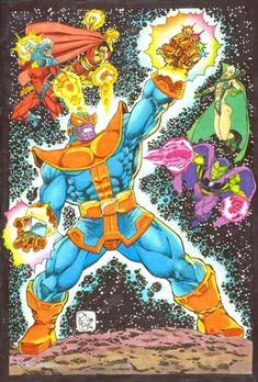 Captain Marvel and the Infinity Watch by Pat Broderick, in shaun clancy's Captain Mar-vell Art Comic Art Gallery Room Comic Book Characters, Marvel Characters, Comic Books, Thanos Marvel, Marvel Comics, Warlock 2, The Infinity Gauntlet, Silver Surfer, Hero Arts