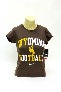 Nike Womens Wyoming Football T-Shirt | University of Wyoming Store -  25% off currently! $25.00