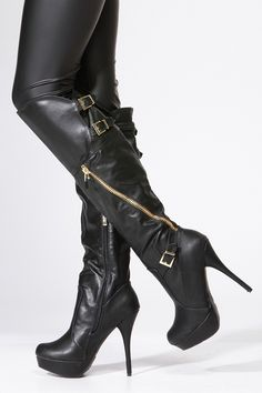 ffa7dd1f1 Black Knee High Boots Bootie Boots, Knee Boots, Knee High Platform Boots,  Thigh