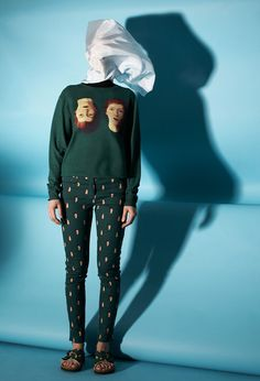 Opening Ceremony celebrates René Magritte, shoes, dress, clothes, art, fashion, read-to-wear, Spring/Summer 2014, Spike Jonze, Manolo Blahni...