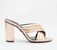 Daisy Street Mule Heeled Sandals