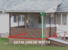 Clear Vinyl Plastic Panels To Protect Porch or Patio From Cold & Rain
