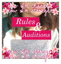 """S 3 Rules & Auditions"" by tumblr-icon-battles-xo ❤ liked on Polyvore featuring art"